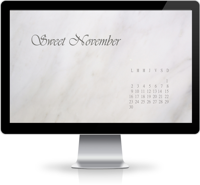 Un fond d'écran pour le mois de Novembre ♥