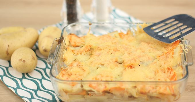 Le gratin pommes de terre – potiron