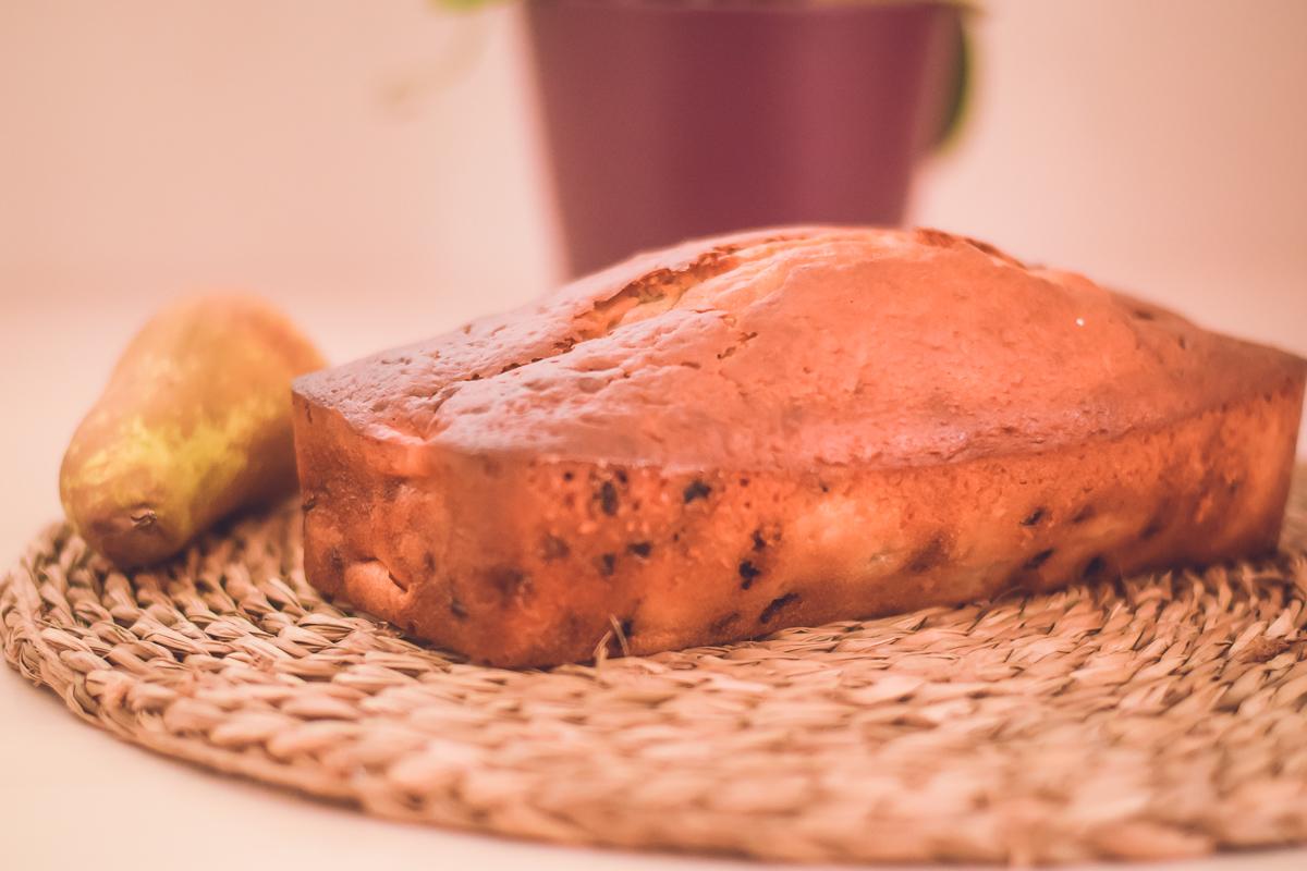 Gâteau à la poire et aux pépites de chocolat