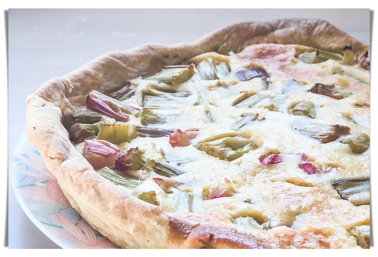 Recette de saison, été : tarte à la rhubarbe