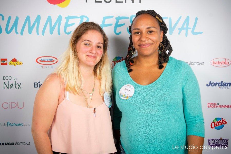 Johanna et Aurore sur le spot des e-fluent summer festival