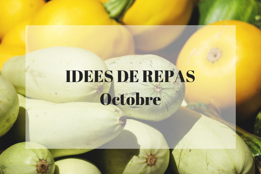 Des idées de recettes pour le mois d'octobre