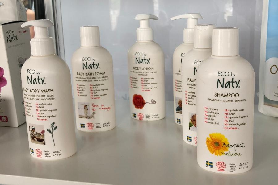 Produits cosmétiques Naty sur le salon des e-fluent 7
