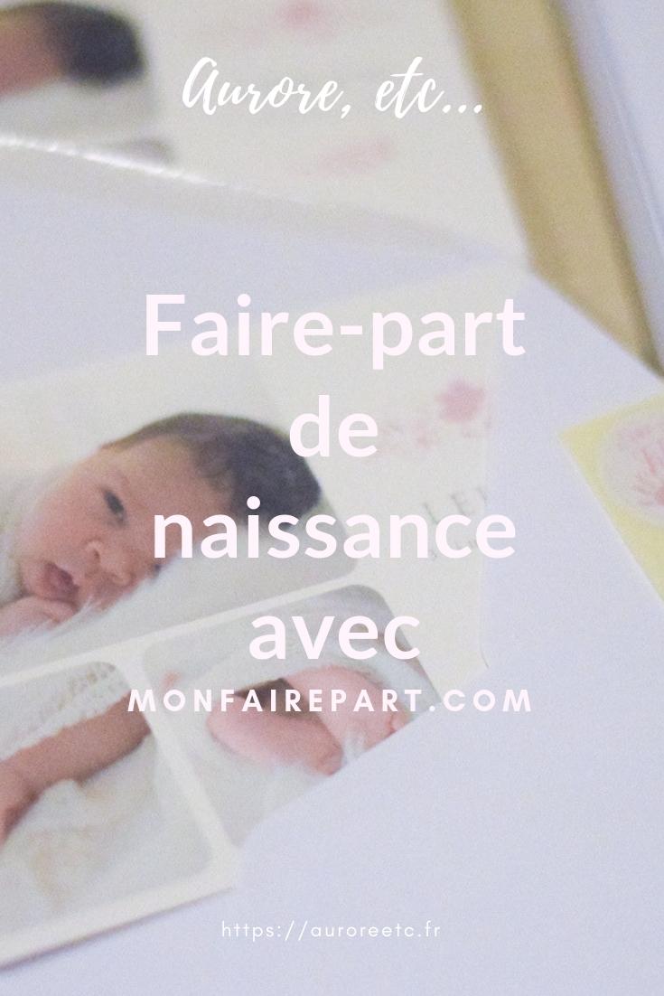 Annoncer une nouvelle (naissance, mariage, voeux, remerciements, anniversaire, baptême) avec des faire-part personnalisés du site monfairepart.com