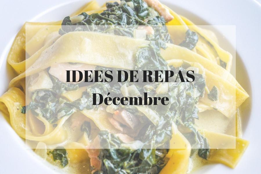 Des idées de recettes pour le mois de décembre