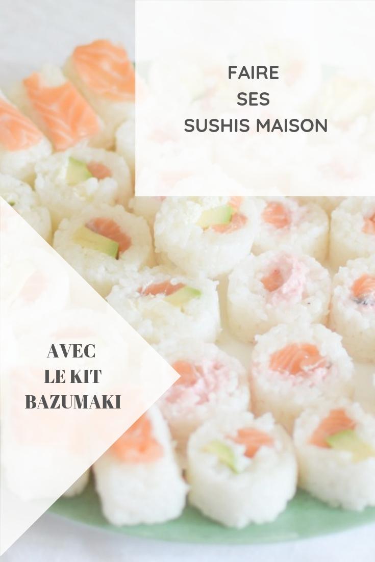Sushi party : faire ses sushis et makis maison avec le kit Bazumaki