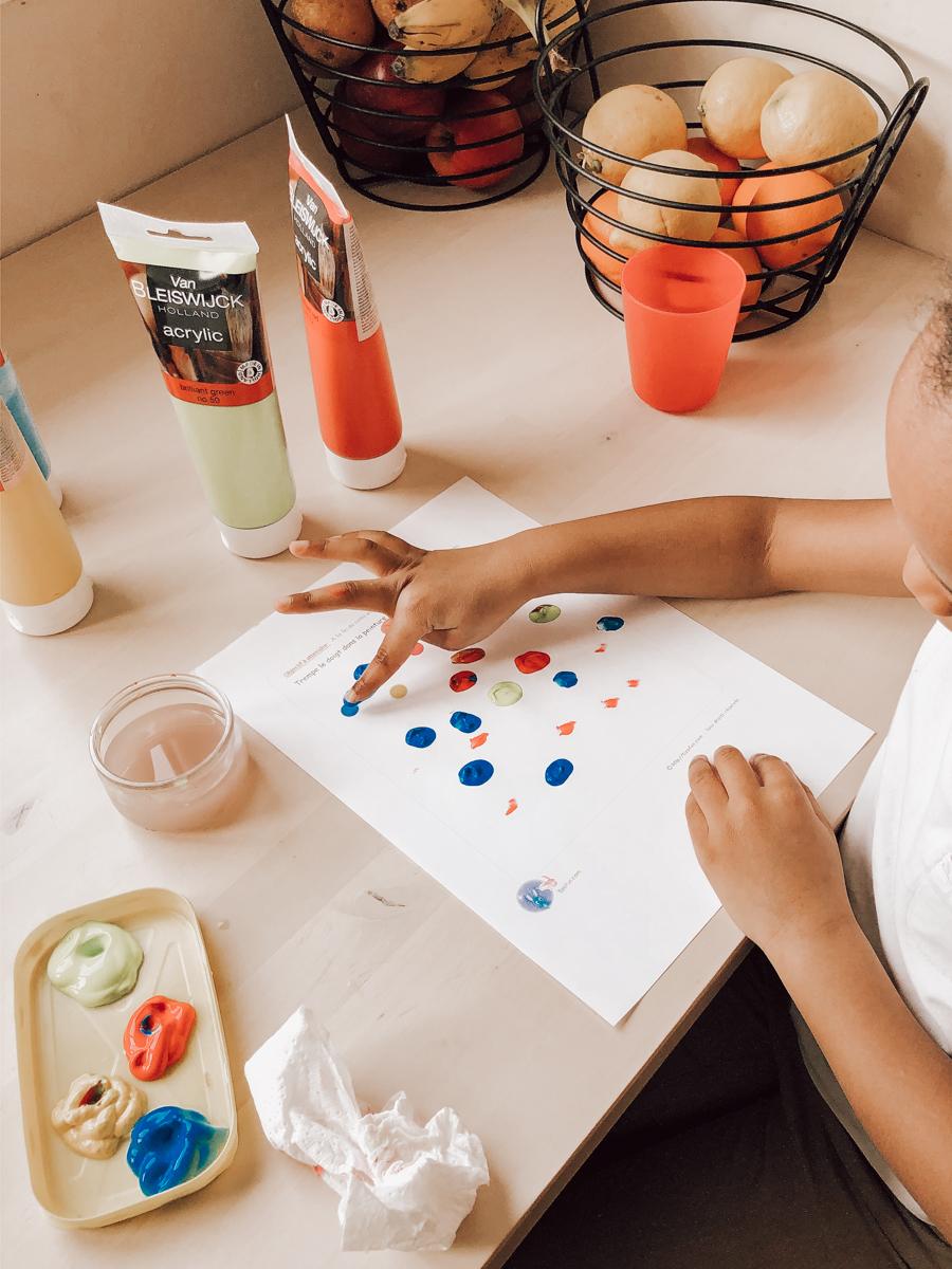 Kids : activité peinture pour assurer la continuité pédagogique