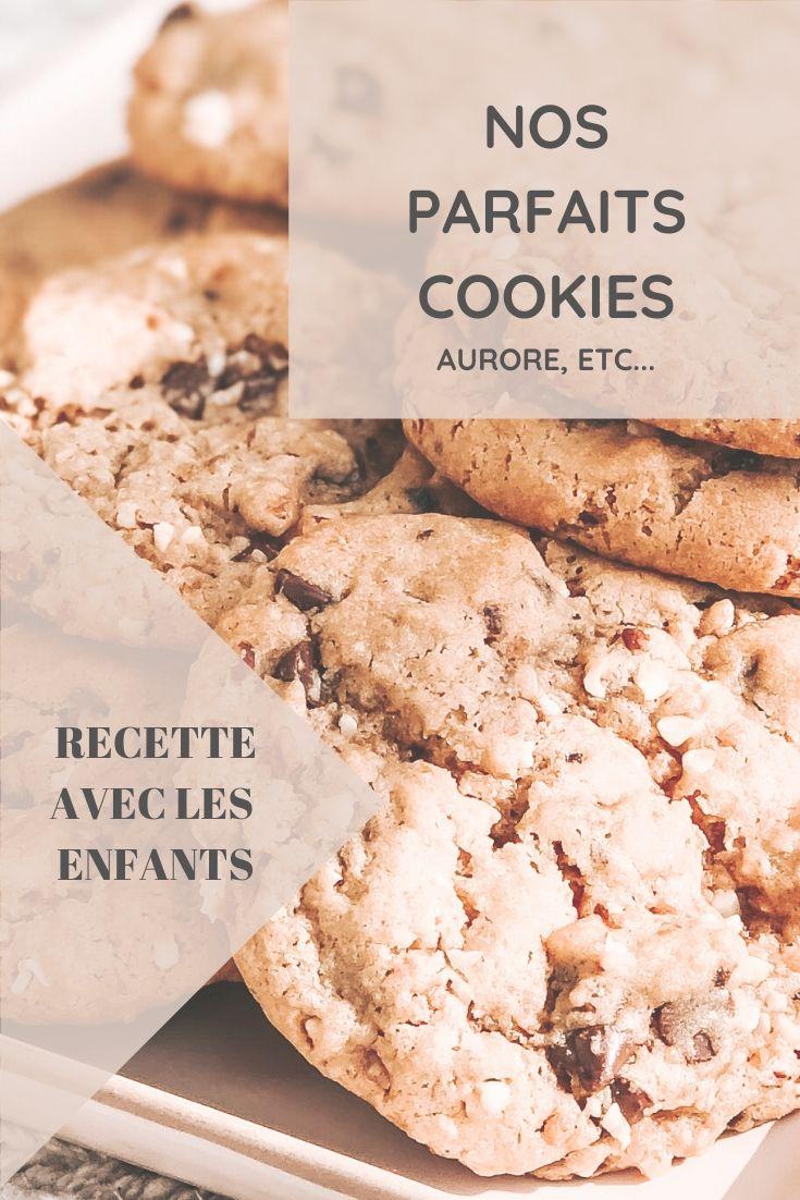 Fiche recette de cookies aux pépites de chocolat et pralin inratables faits maison avec les enfants à imprimer