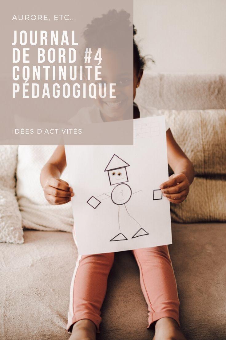 Journal de bord pendant le confinement, continuité pédagogique et activités