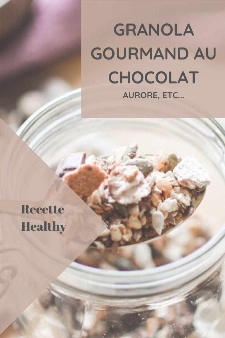 Recette d'un granola gourmand au chocolat, qui plait particulièrement aux enfants, avec fiche recette à télécharger