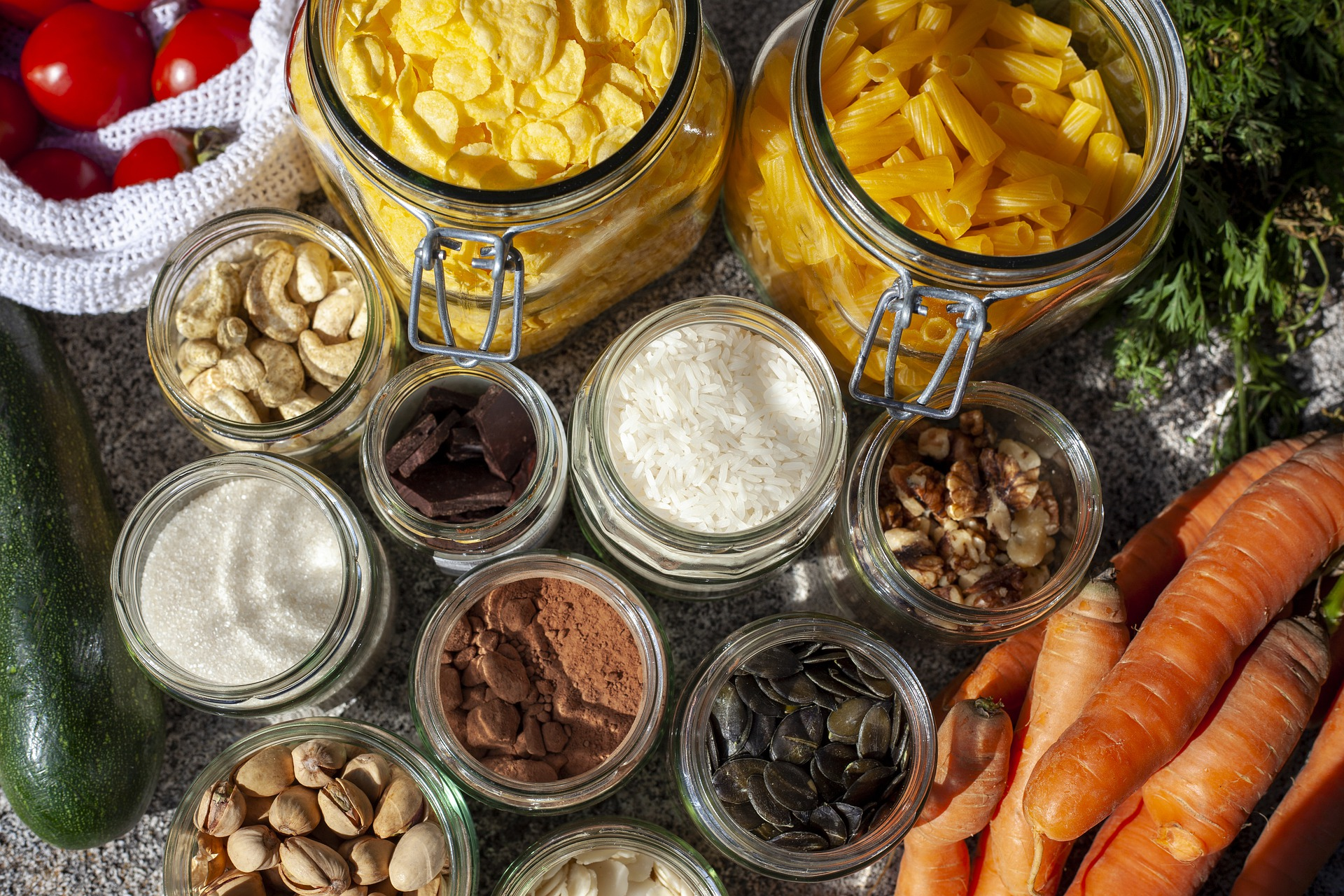 Zéro déchet : vrac en bocaux et légumes